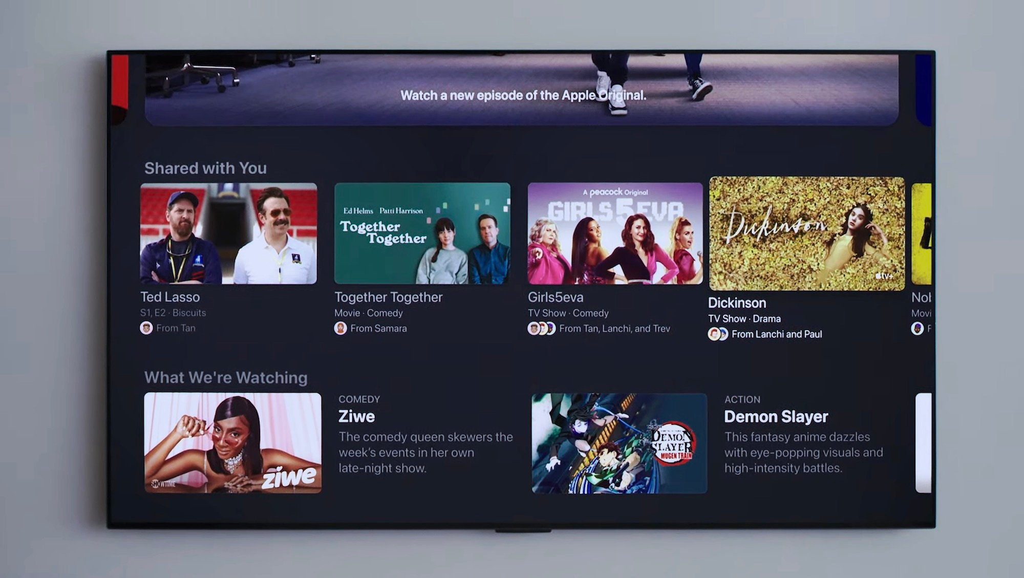 shared with you feature in tvOS 15.