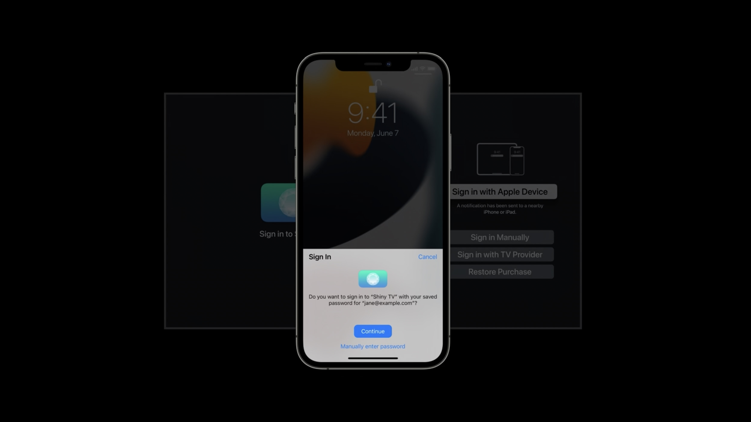 Log in/ signup using Touch ID or Face ID